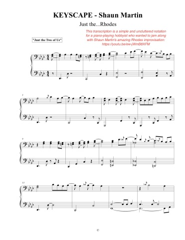 Keyscape - Shaun Martin w notes