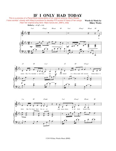 Seth - PV score sample If I Only Had Today